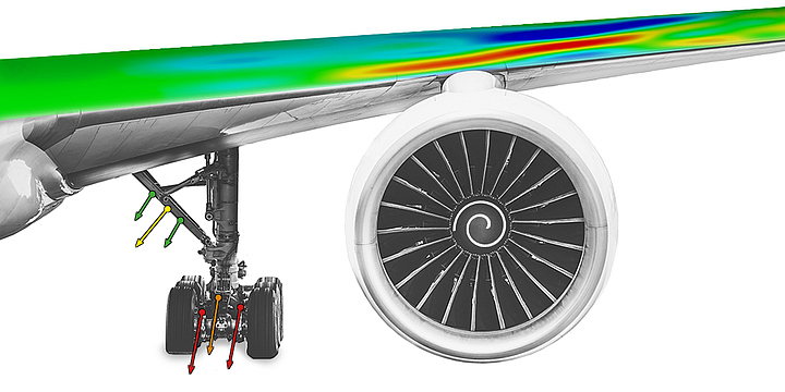 Digital Image Correlation data on airplane wing